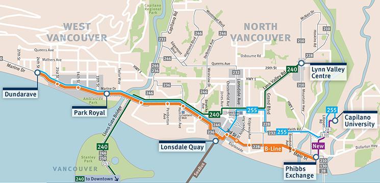 Translink B Line Program District Of West Vancouver